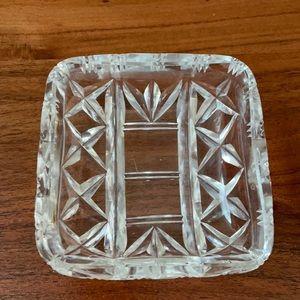VINTAGE crystal glass soap dish